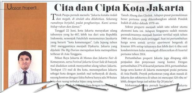 Cita dan Cipta Kota Jakarta