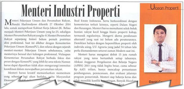 Menteri Industri Properti