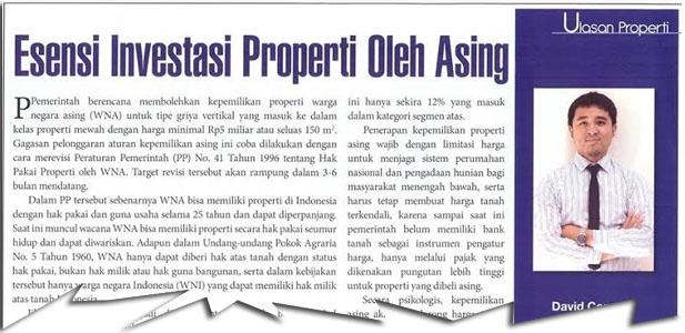 Esensi Investasi Properti Oleh Asing