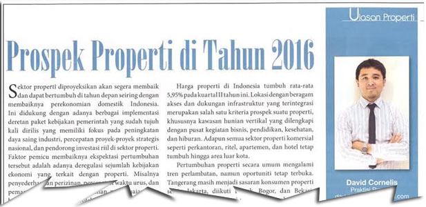 Prospek Properti di Tahun 2016