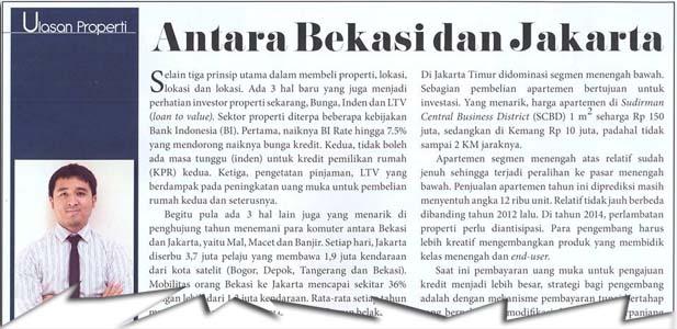 Antara Bekasi dan Jakarta