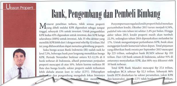 Bank, Pengembang dan Pembeli Bimbang