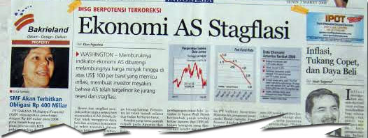03 Maret 2008 – Ekonomi AS Stagflasi