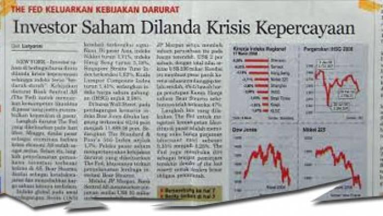 18 Maret 2008 – Investor Saham Dilanda Krisis Kepercayaan