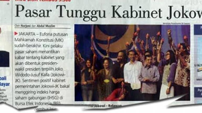 23-24 Agustus 2014 – Pasar Tunggu Kabinet Jokowi-JK