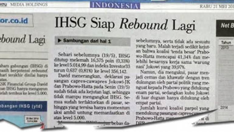 21 Mei 2014 – IHSG Siap Rebound Lagi