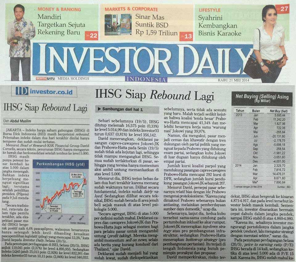 28 21 Mei 2014 - IHSG Siap Rebound Lagi