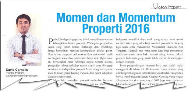 Momen dan Momentum Properti 2016