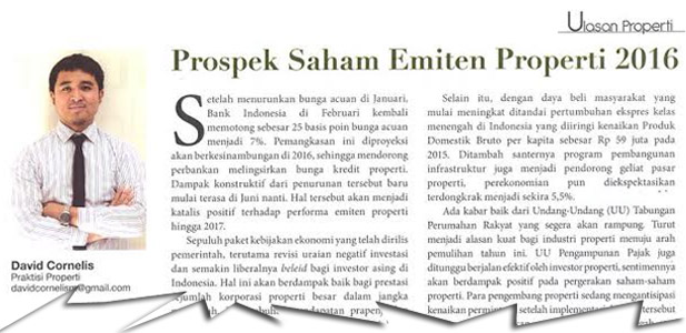 Prospek Saham Emiten Properti 2016